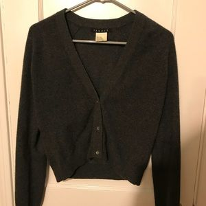 VINTAGE Theory Grey Cashmere Cardigan